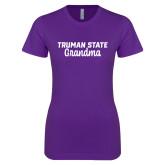 Next Level Ladies SoftStyle Junior Fitted Purple Tee-Grandma