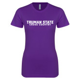 Next Level Ladies SoftStyle Junior Fitted Purple Tee-Bulldogs Cross Country