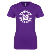 Next Level Ladies SoftStyle Junior Fitted Purple Tee-Secondary Mark