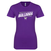 Next Level Ladies SoftStyle Junior Fitted Purple Tee-Slanted Design