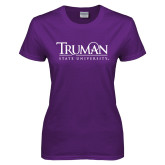Ladies Purple T Shirt-University Mark