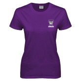 Ladies Purple T Shirt-Primary Mark