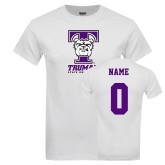 White T Shirt-Primary Mark, Custom Tee w/ Name and #