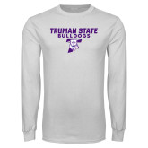White Long Sleeve T Shirt-Bulldog T