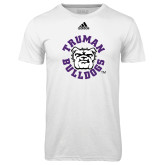 Adidas Climalite White Ultimate Performance Tee-Secondary Mark