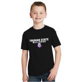 Youth Black T Shirt-Bulldog