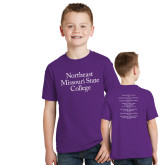 Youth Purple T Shirt-Northeast Missouri State College
