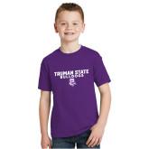 Youth Purple T Shirt-Bulldog