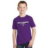 Youth Purple T Shirt-Football Design