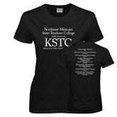 Ladies Black T Shirt-KSTC