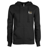ENZA Ladies Black Fleece Full Zip Hoodie-150th Anniversary