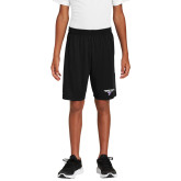Youth Black Competitor Shorts-Bulldog T