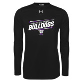 Under Armour Black Long Sleeve Tech Tee-Slanted Design