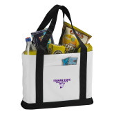 Contender White/Black Canvas Tote-Bulldog T