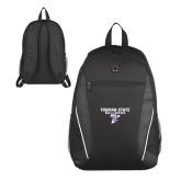 Atlas Black Computer Backpack-Bulldog T