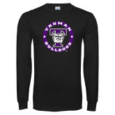 Black Long Sleeve T Shirt-Truman Bulldogs Circle