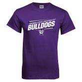 Purple T Shirt-Slanted Design