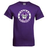 Purple T Shirt-Truman Bulldogs Circle