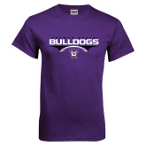 Purple T Shirt-Football Design
