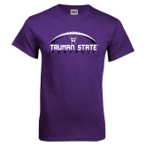 Purple T Shirt-Arched Football Design
