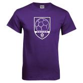 Purple T Shirt-Soccer Design