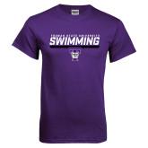 Purple T Shirt-Swimming Design