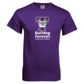 Purple T Shirt-Bulldog Forever Stacked
