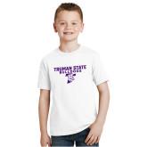 Youth White T Shirt-Bulldog T