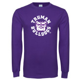 Purple Long Sleeve T Shirt-Secondary Mark