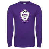 Purple Long Sleeve T Shirt-Soccer
