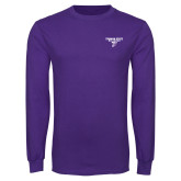 Purple Long Sleeve T Shirt-Bulldog T