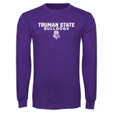 Purple Long Sleeve T Shirt-Bulldog