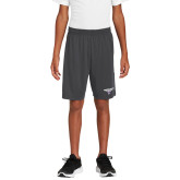 Youth Charcoal Competitor Shorts-Bulldog T