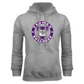 Grey Fleece Hoodie-Truman Bulldogs Circle