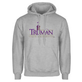 Grey Fleece Hoodie-Truman University Mark