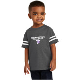 Toddler Vintage Charcoal Jersey Tee-Bulldog T