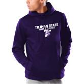 Under Armour Purple Armour Fleece Hoodie-Bulldog T
