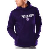 Under Armour Purple Armour Fleece Hoodie-Bulldog