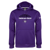 Under Armour Purple Performance Sweats Team Hoodie-Basketball Design