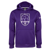 Under Armour Purple Performance Sweats Team Hoodie-Soccer Design