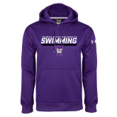 Under Armour Purple Performance Sweats Team Hoodie-Swimming Design