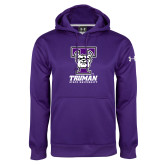 Under Armour Purple Performance Sweats Team Hoodie-Primary Mark