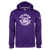 Under Armour Purple Performance Sweats Team Hoodie-Secondary Mark