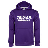 Under Armour Purple Performance Sweats Team Hoodie-Swimming
