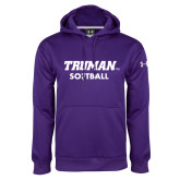 Under Armour Purple Performance Sweats Team Hoodie-Softball