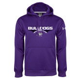 Under Armour Purple Performance Sweats Team Hoodie-Football Design