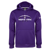 Under Armour Purple Performance Sweats Team Hoodie-Arched Football Design