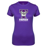 Ladies Syntrel Performance Purple Tee-Primary Mark