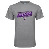 Grey T Shirt-Slanted Design