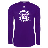 Under Armour Purple Long Sleeve Tech Tee-Secondary Mark